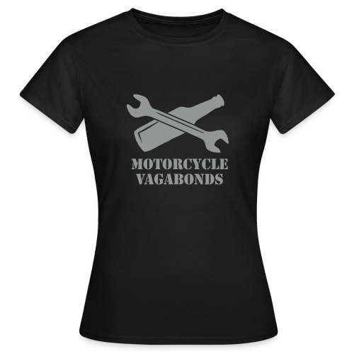 t-shirt - female  - motorcycle vagabonds - grey print - Women's T-Shirt