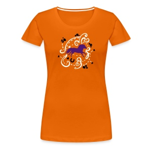 Pony Orange T-Shirt  - Frauen Premium T-Shirt