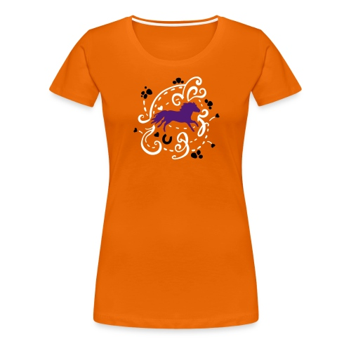 Pony Orange T-Shirt  - Frauen Premium T-Shirt