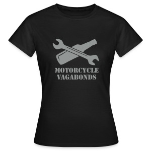 t-shirt - female  - motorcycle vagabonds - grey print - Women's T-Shirt