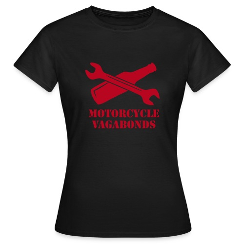 t-shirt - female  - motorcycle vagabonds - red print - Women's T-Shirt