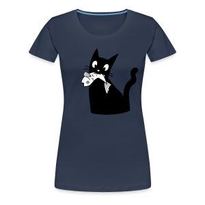 Katze frisst Fisch - Women's Premium T-Shirt