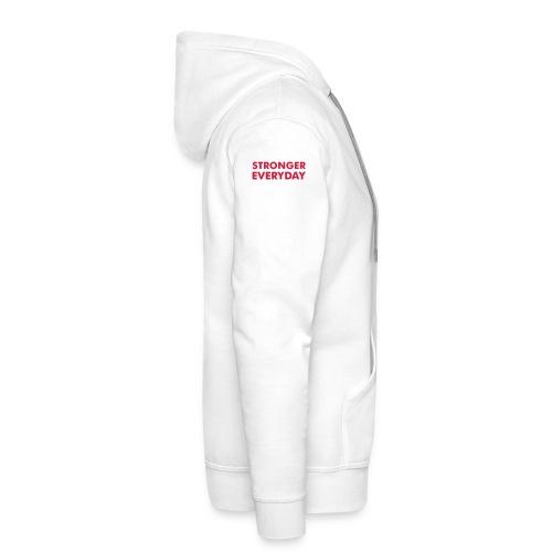 Stronger Everyday Hoodie White - Men's Premium Hoodie