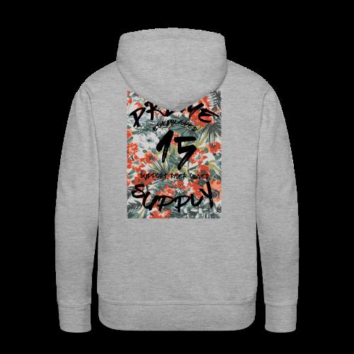 Floral Hoodie Grey - Men's Premium Hoodie