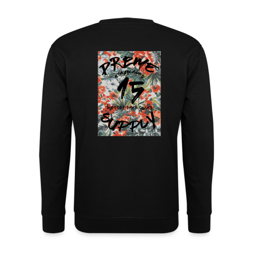 Floral Sweatshirt Black - Men's Sweatshirt
