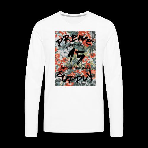 Longsleeve Floral Tee White - Men's Premium Longsleeve Shirt