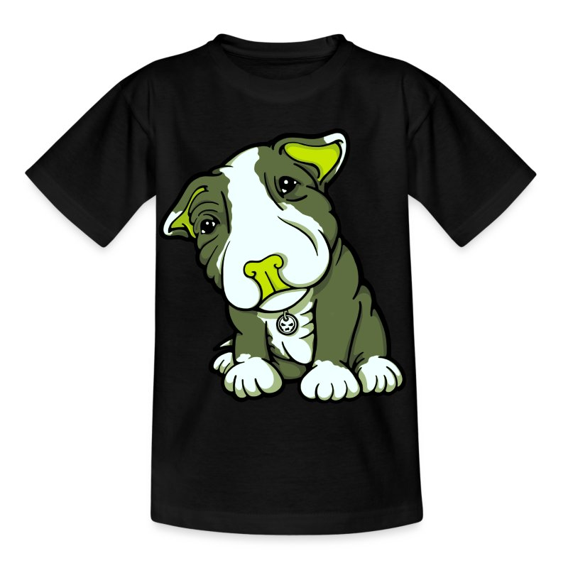 Pit Bull Terrier Puppy Greens - Kids' T-Shirt