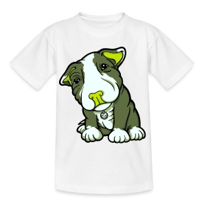 Pit Bull Terrier Puppy Greens - Teenage T-shirt
