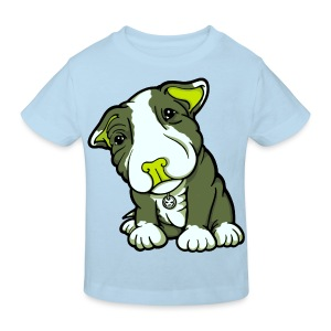 Pit Bull Terrier Puppy Greens - Kids' Organic T-shirt