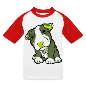 Pit Bull Terrier Puppy Greens - Kids' Baseball T-Shirt