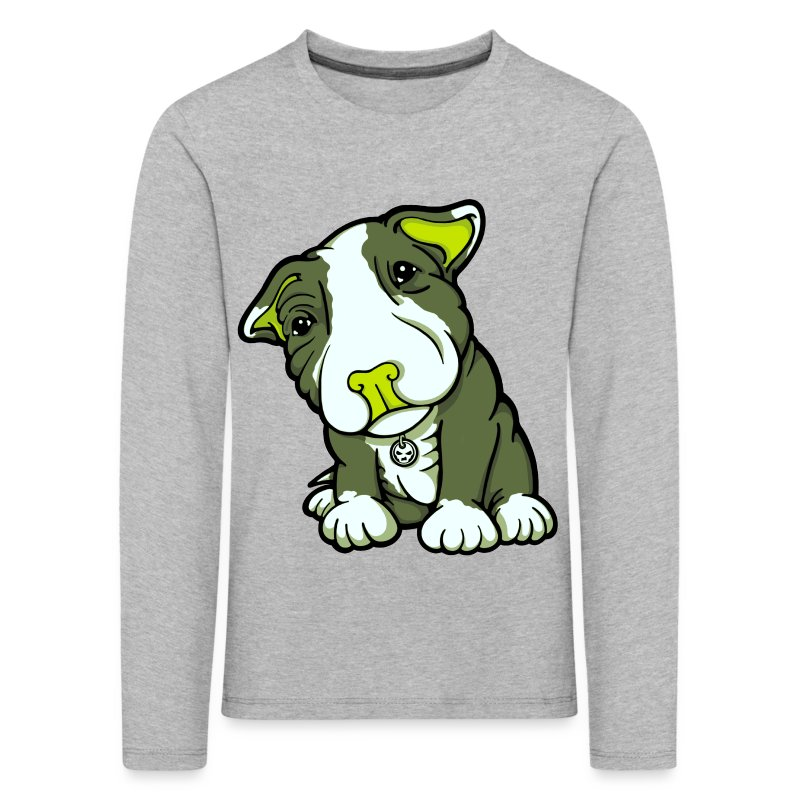Pit Bull Terrier Puppy Greens - Kids' Premium Longsleeve Shirt