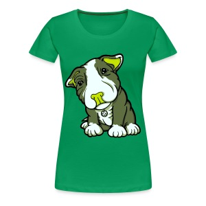 Pit Bull Terrier Puppy Greens - Women's Premium T-Shirt