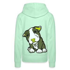 Pit Bull Terrier Puppy Greens - Women's Premium Hoodie