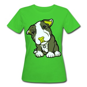 Pit Bull Terrier Puppy Greens - Women's Organic T-shirt