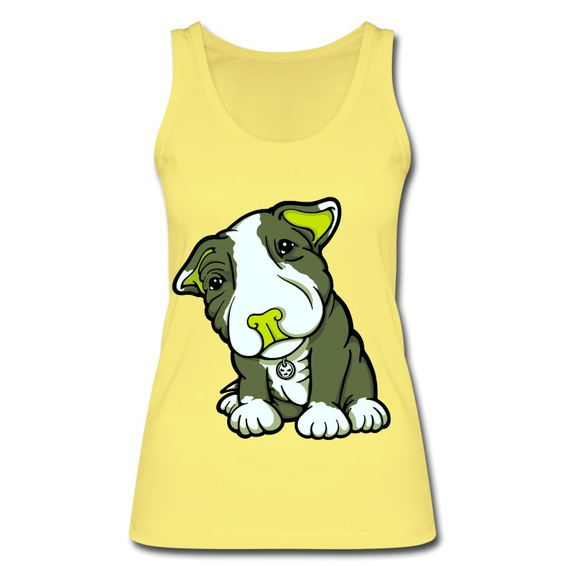 Pit Bull Terrier Puppy Greens - Women's Organic Tank Top by Stanley & Stella