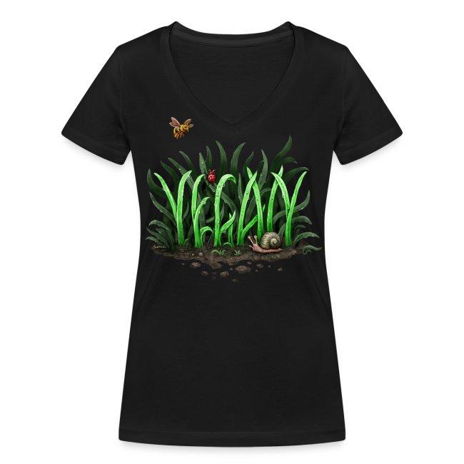 Grow Vegan (girl/v-neck)