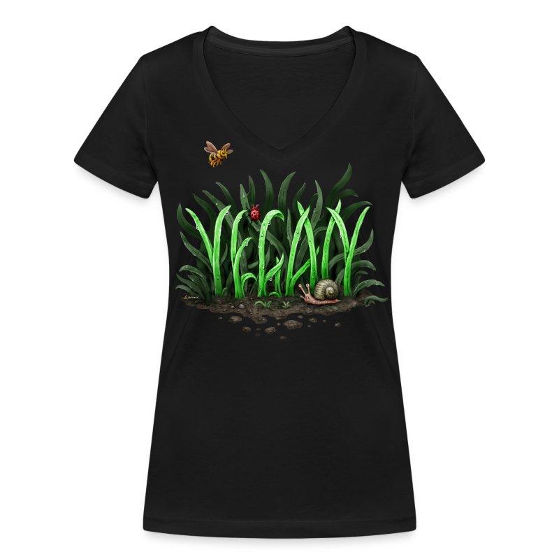 Grow Vegan (girl/v-neck) - Frauen Bio-T-Shirt mit V-Ausschnitt von Stanley & Stella