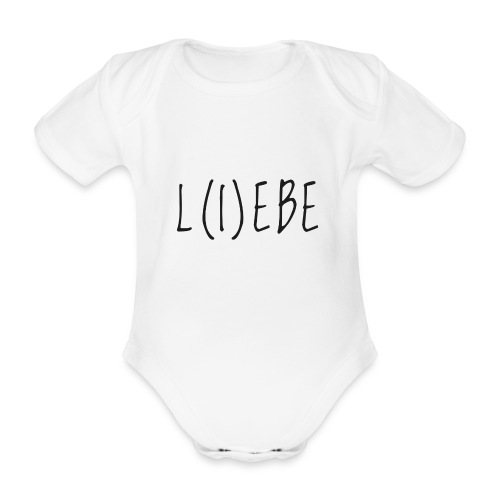 L(I)EBE - Baby Bio-Kurzarm-Body