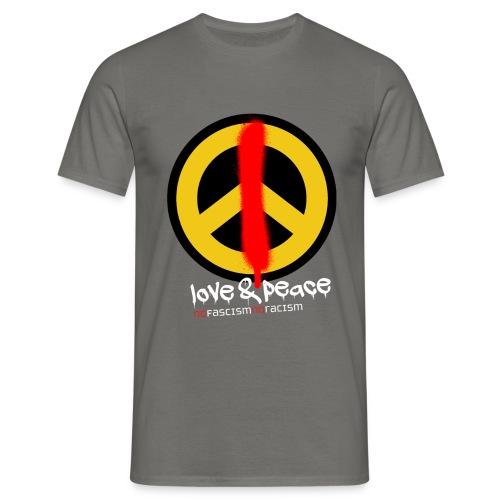 Love & Peace T-Shirt Männer - Männer T-Shirt
