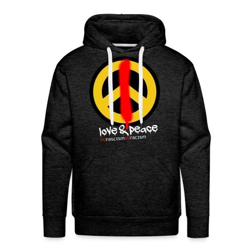 Love & Peace Hoodie Männer - Männer Premium Hoodie