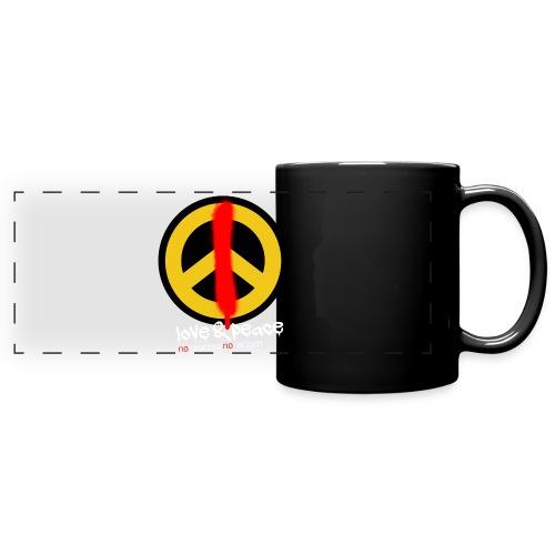 Love & Peace Tasse - Panoramatasse farbig