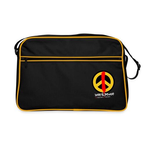 Love & Peace Retro-Tasche schwarz - Retro Tasche