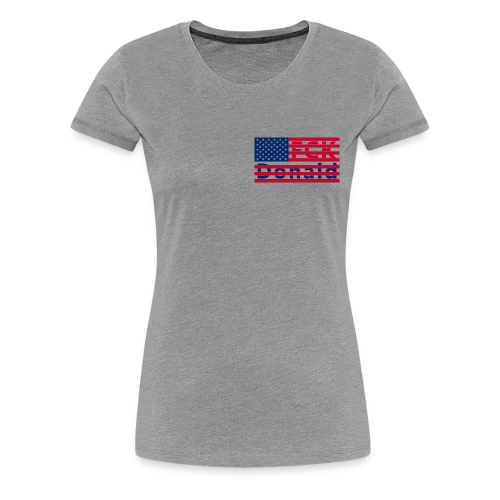 FCK Donald (blau/rot) w/premium - Frauen Premium T-Shirt