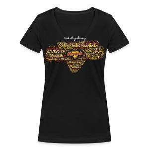 2016 Stage Line-Up (V-Neck Ladies) - Vrouwen bio T-shirt met V-hals van Stanley & Stella