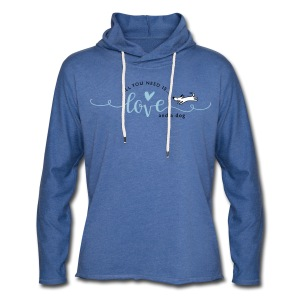 All you need is love and a dog - Leichtes Kapuzensweatshirt Unisex