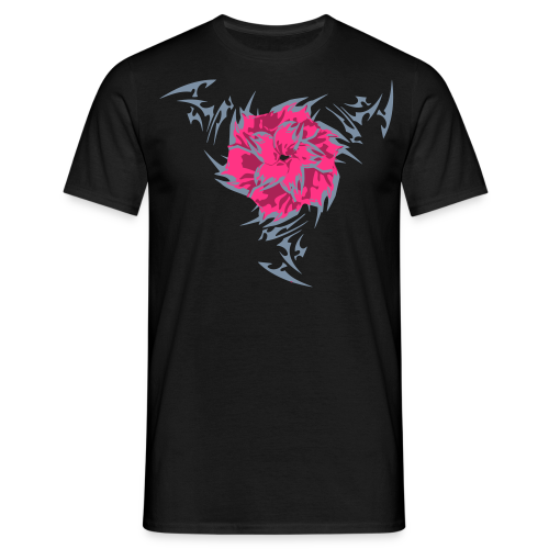 2017 Shuriken Rose Tribe Tee - Black - Men's T-Shirt