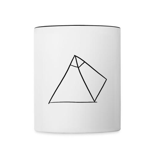 Tasse Blanche/Noir - Logo Noir P Y R A - Mug contrasté