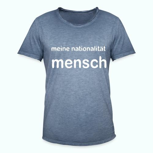 nationalität mensch - Men's Vintage T-Shirt