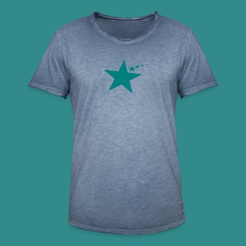 Used Look mit Stern-Design - Männer Vintage T-Shirt