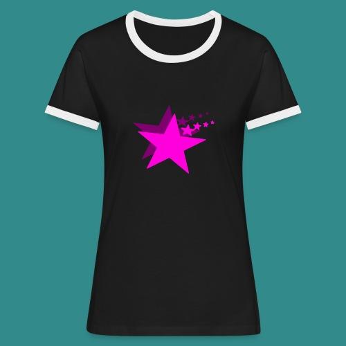 Greif nach den Sternen - Frauen Kontrast-T-Shirt