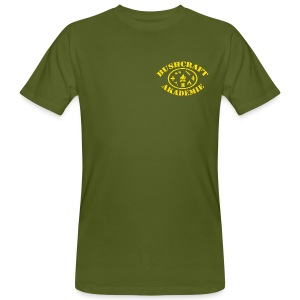 Bushcraft Akademie Fan-Shirt / Logo klein / Festival Daten - Männer Bio-T-Shirt