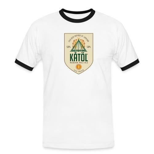Kåtöl T-Shirt Brun - Kontrast-T-shirt herr