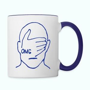 cry usa ... OMG - Tasse zweifarbig