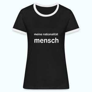 nationalität mensch - Frauen Kontrast-T-Shirt