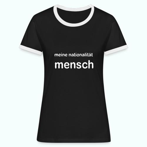 nationalität mensch - Women's Ringer T-Shirt