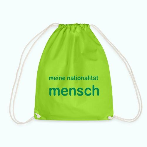 nationalität mensch - Drawstring Bag