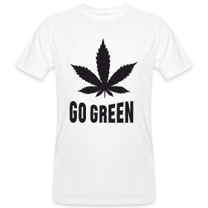 Männer Bio-T-Shirt - Weed Go Green