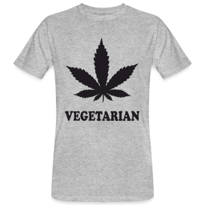 Männer Bio-T-Shirt - Weed Vegetarian