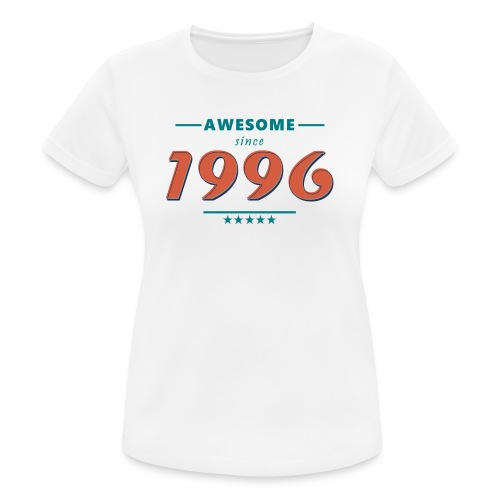 Awesome since 1996 - Frauen T-Shirt atmungsaktiv