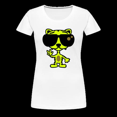 Tiger mit Sonnenbrille - Frauen Premium T-Shirt