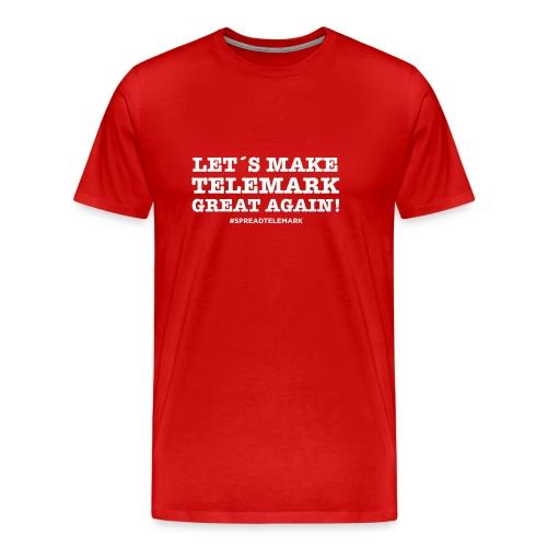 Let´s make Telemark great again -tpaita - Miesten premium t-paita