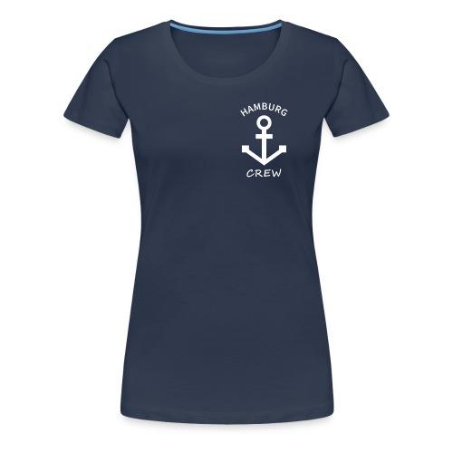 Anker Hamburg Women Crew navy - Frauen Premium T-Shirt