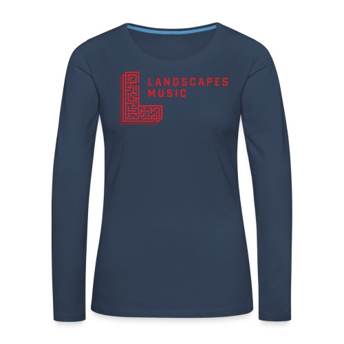 Woman Long Navy/R - Women's Premium Longsleeve Shirt