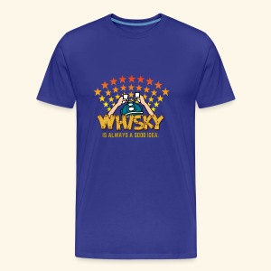 Whisky - always a good idea - Männer Premium T-Shirt