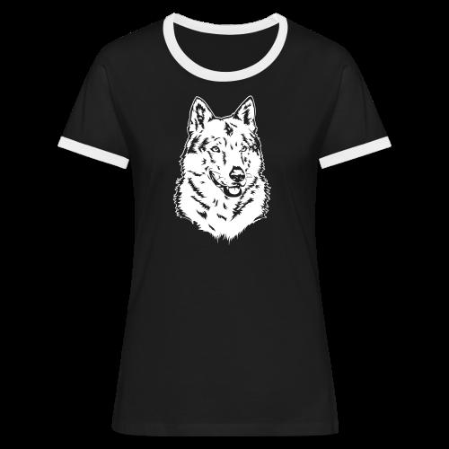 tschechoslowakischer Wolfhund (TWH) - Frauen Kontrast-T-Shirt