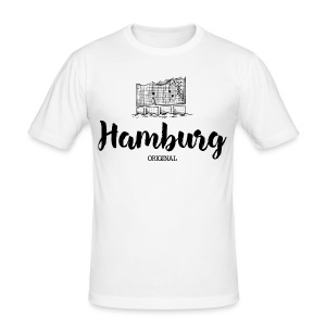 Hamburg Elbe T-Shirts - Männer Slim Fit T-Shirt